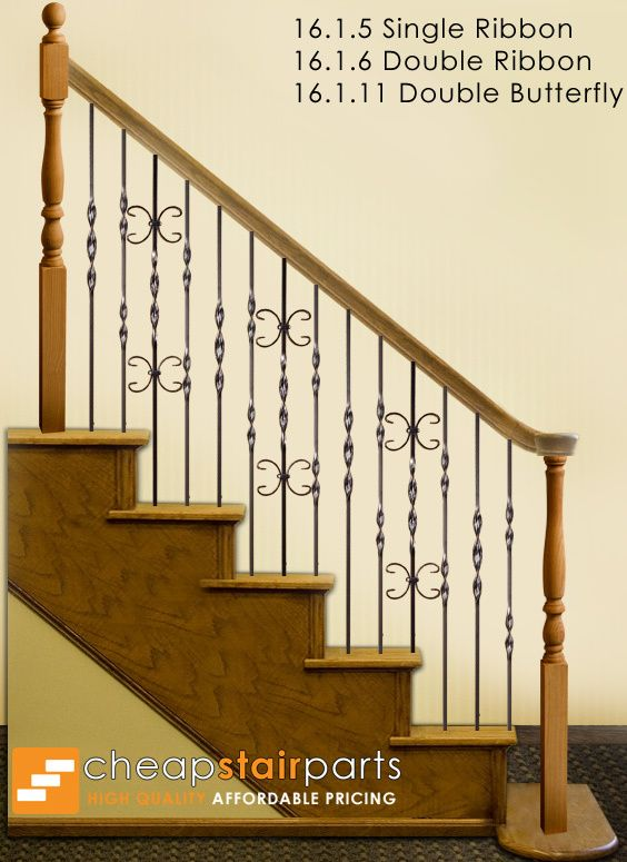 This Staircase Pattern Features Balusters From The Ribbon Series The Single Butterfly Double Ribbon Balusters 16 1 10 The Single Ribbon Balusters 16 1 5