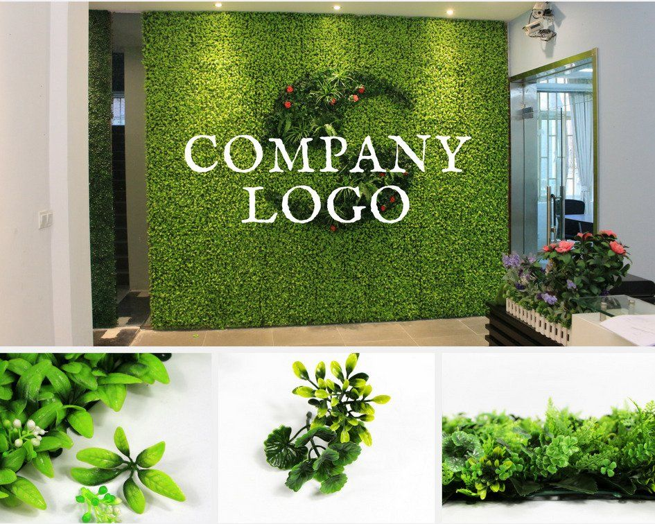 The Concept Of Green Walls Has Been Around For Centuries Artificial Plants For Company Logo Design Are The Lates Green Wall Plants Green Wall Green Wall Decor