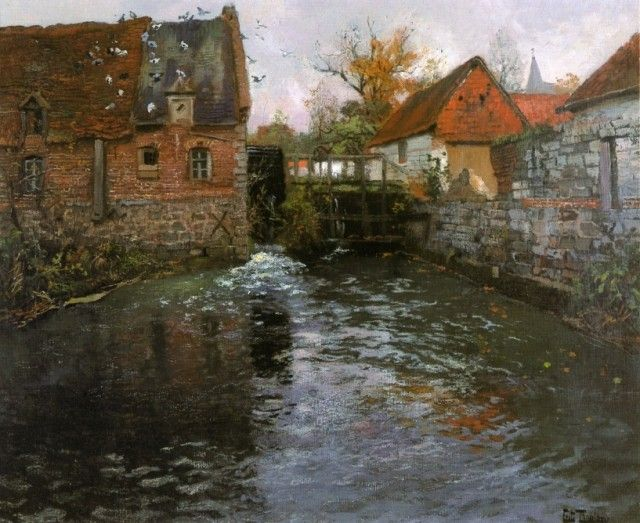Frits Thaulow, The Mill Pond