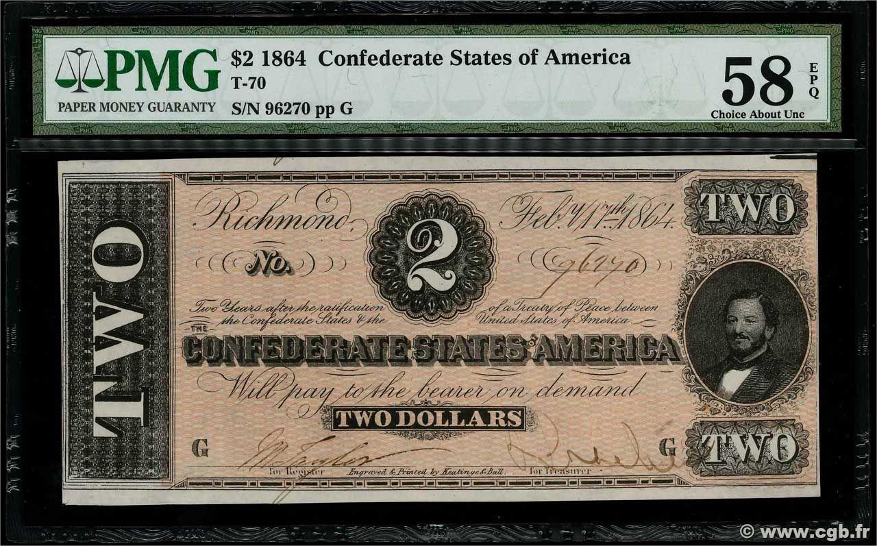 UNC PLEASE READ DESCR 1864 $5.00 CONFEDRATE STATE OF AMERICA BANKNOTE COPY