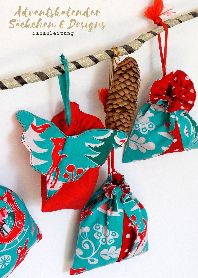Adventskalender Säckchen Engelsflügel   Beutel nähen, Weihnachten ...