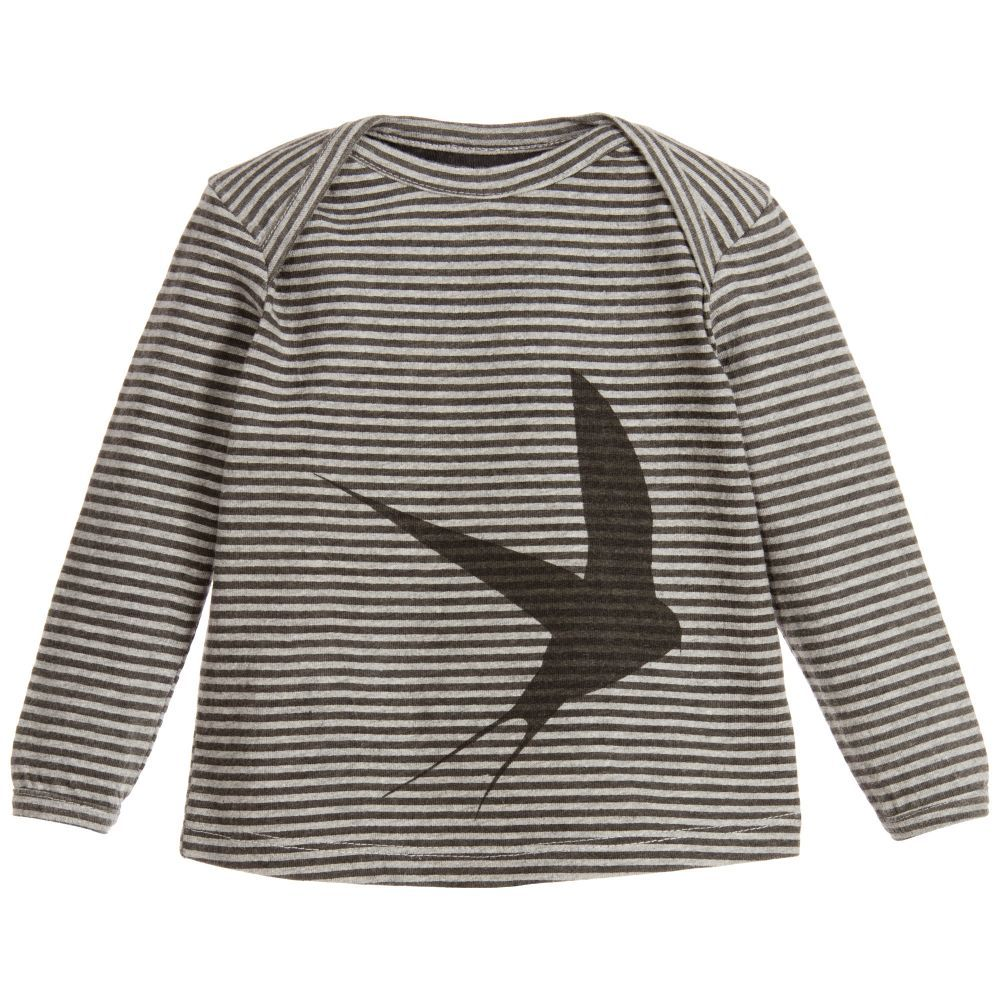eb6ca4437892 Baby Grey Cotton Jersey Swallow Top