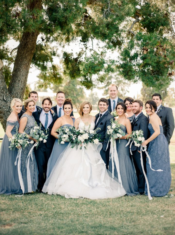 Blue wedding party #weddingparty #bluewedding #mistyblue