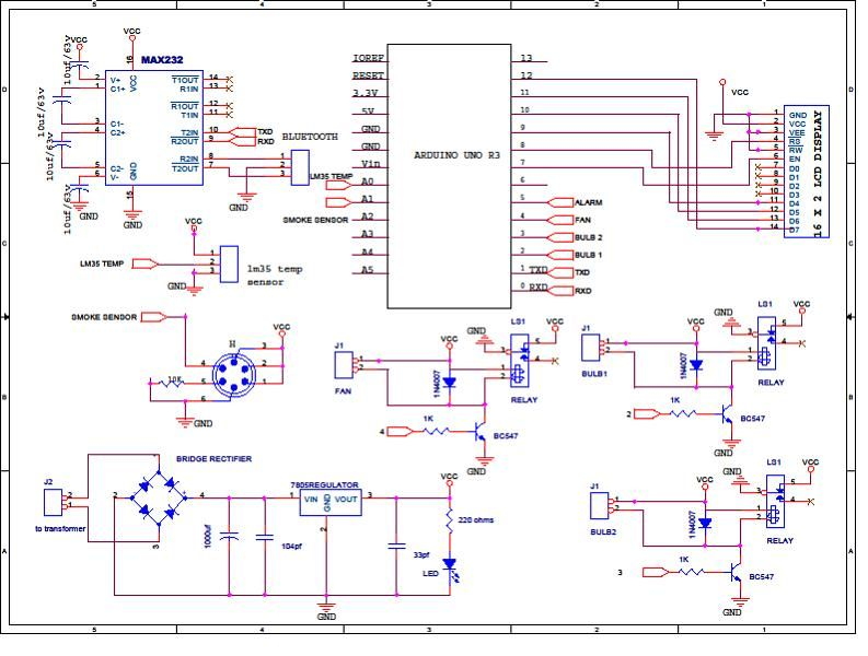 Arduino Based Smart Home Automation ,circuit Diagram