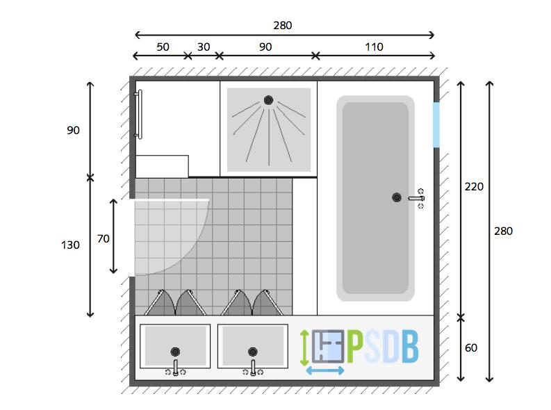 Exemple Plan De Salle De Bain De 7 8m2 Plan Salle De Bain Salle De Bain Grande Salle De Bain