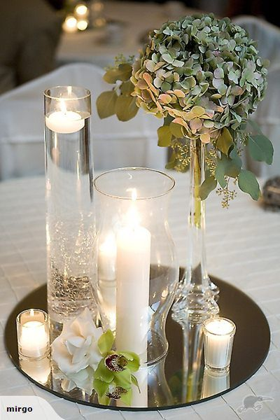 Selection Of Place Card Holders Candles Wedding Centerpieces Centerpiece Mirrors And Other Decorations