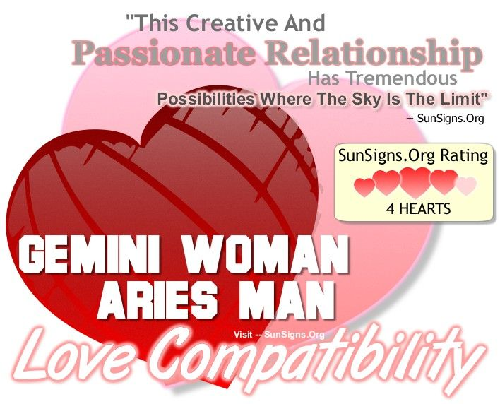 Woman A Gemini Aries Man Hookup