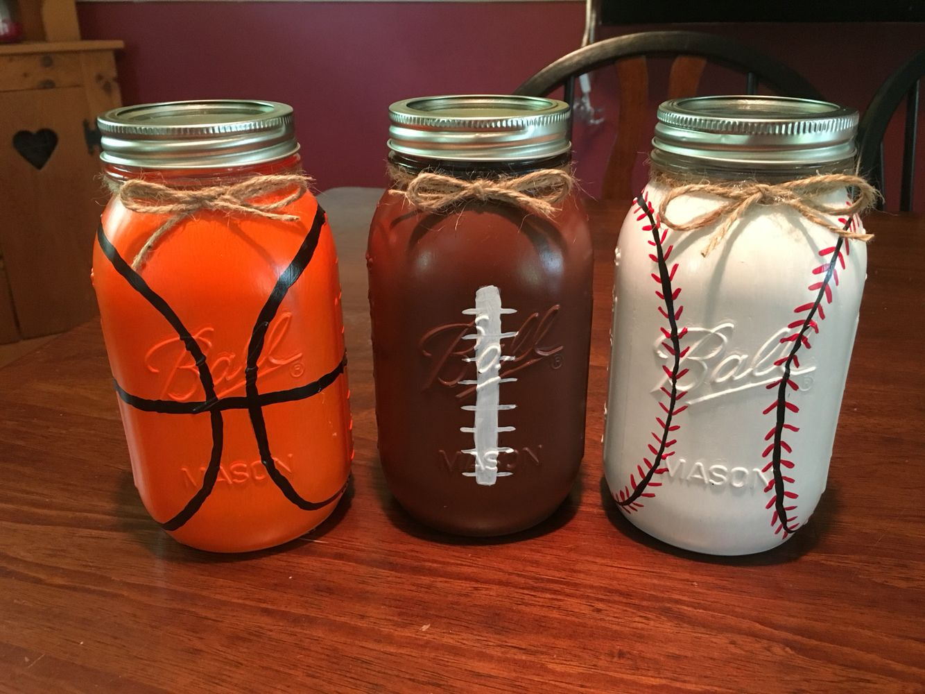Sports Mason Jars Diy Basketball Baseball Football Man Cave Mason Jar Diy Diy Gifts For Boyfriend Mason Jars