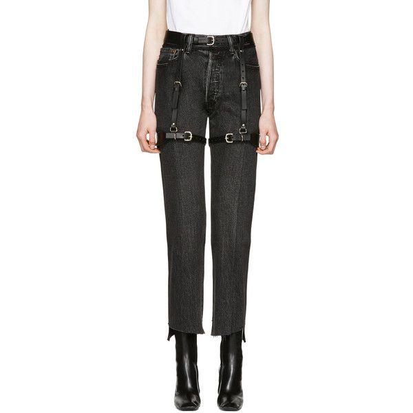 Fleet Ilya Black Suspender Garter Harness ($495) ❤ liked on Polyvore featuring intimates, black, fleet ilya, suspender belt and garter belt