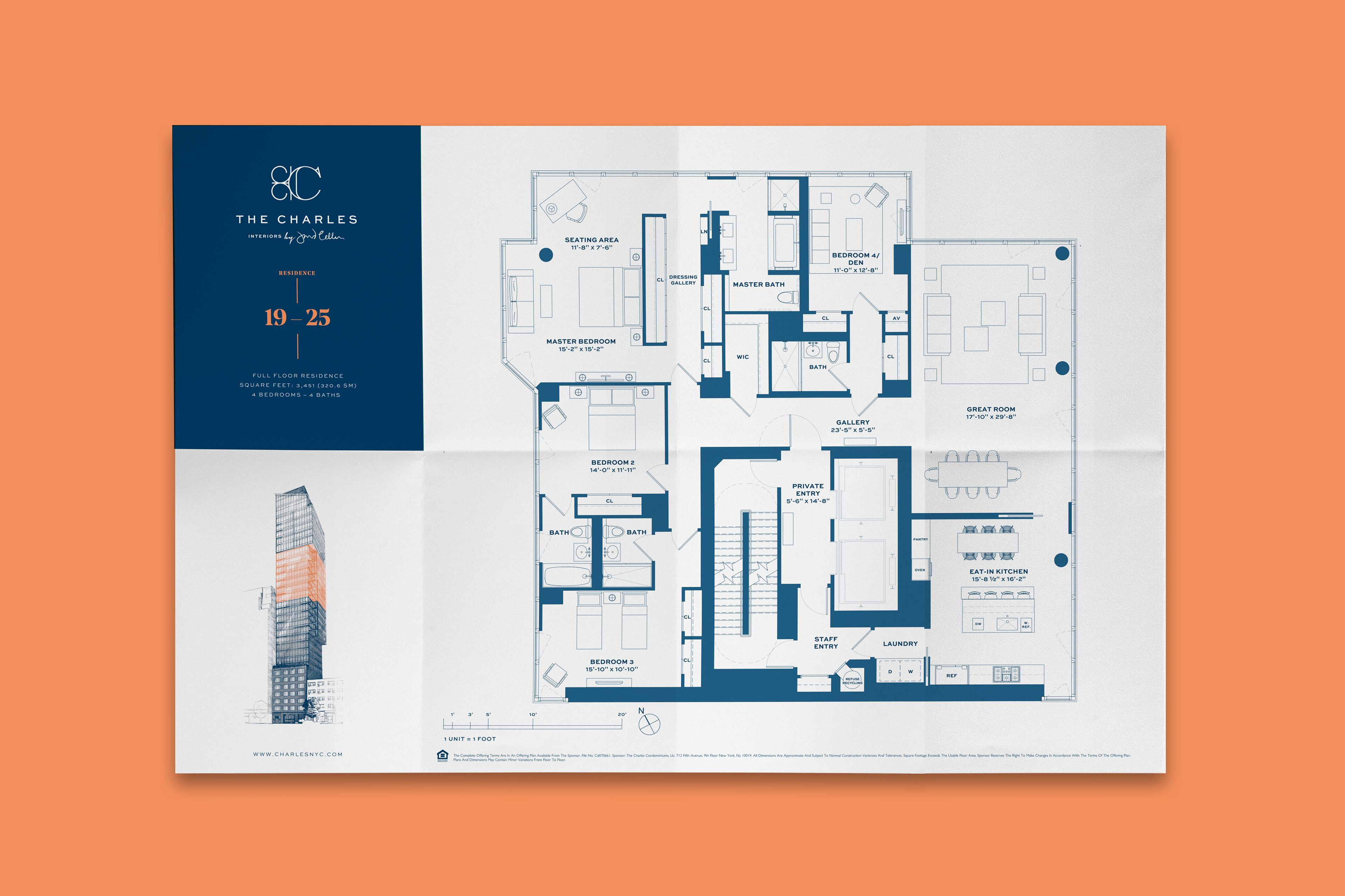 The Charles Architecture Drawing Presentation Floor Plan Design