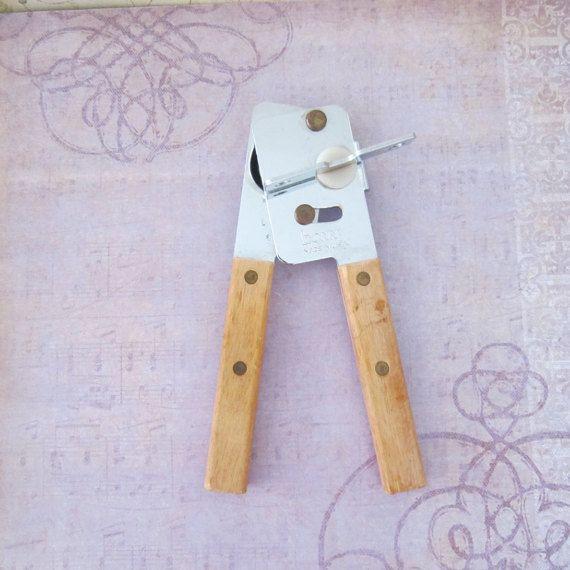 Vintage Bonny Manual Can Opener Wooden by GoldenHopeVintage