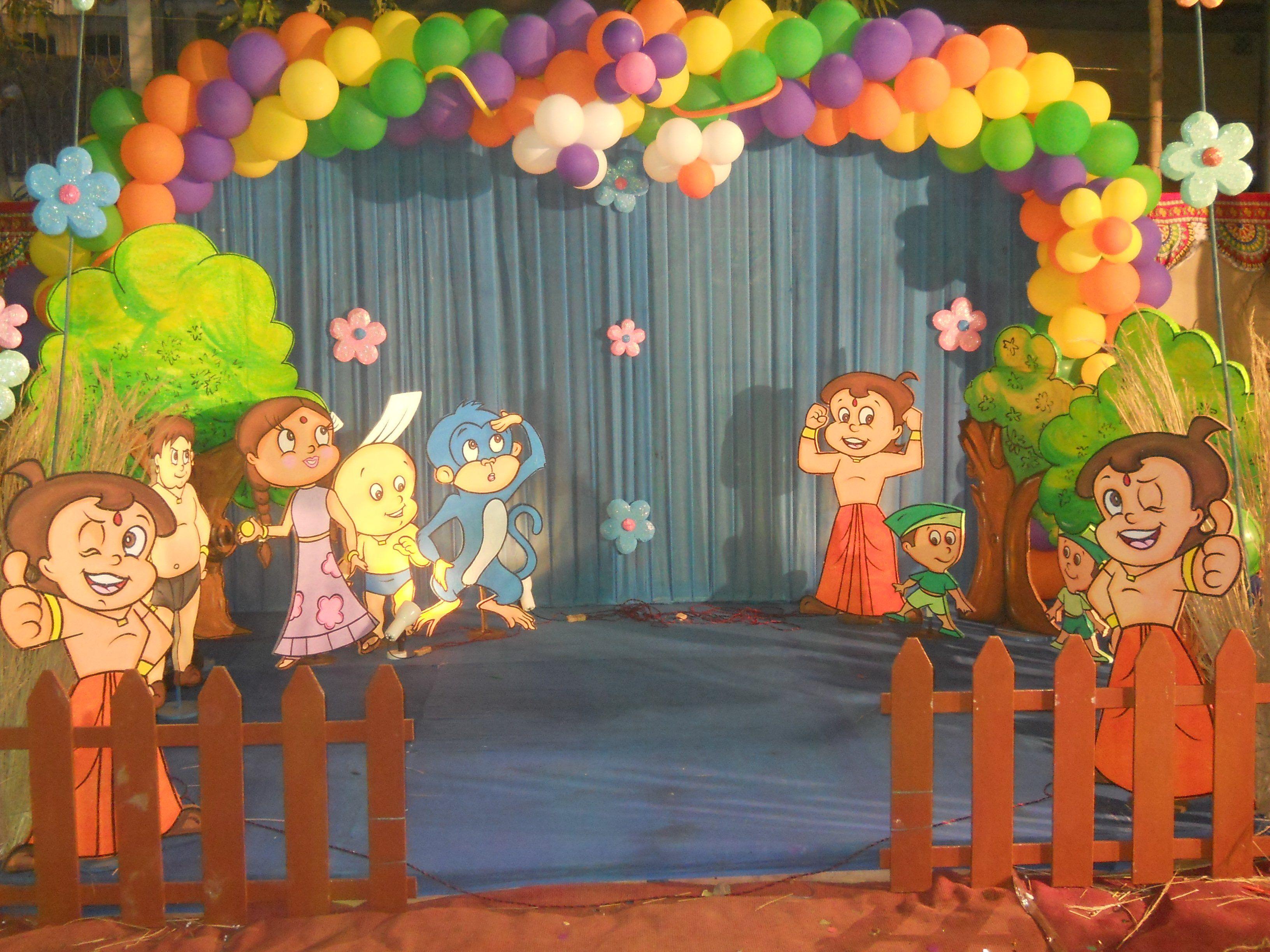 Chhota Bheem Theme 4 Stars Most Beautiful Birthday Party Themes
