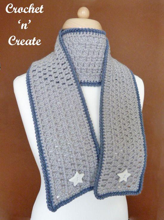 Crochet Ladies Scarf Free Crochet Pattern | Pinterest | Bufanda ...