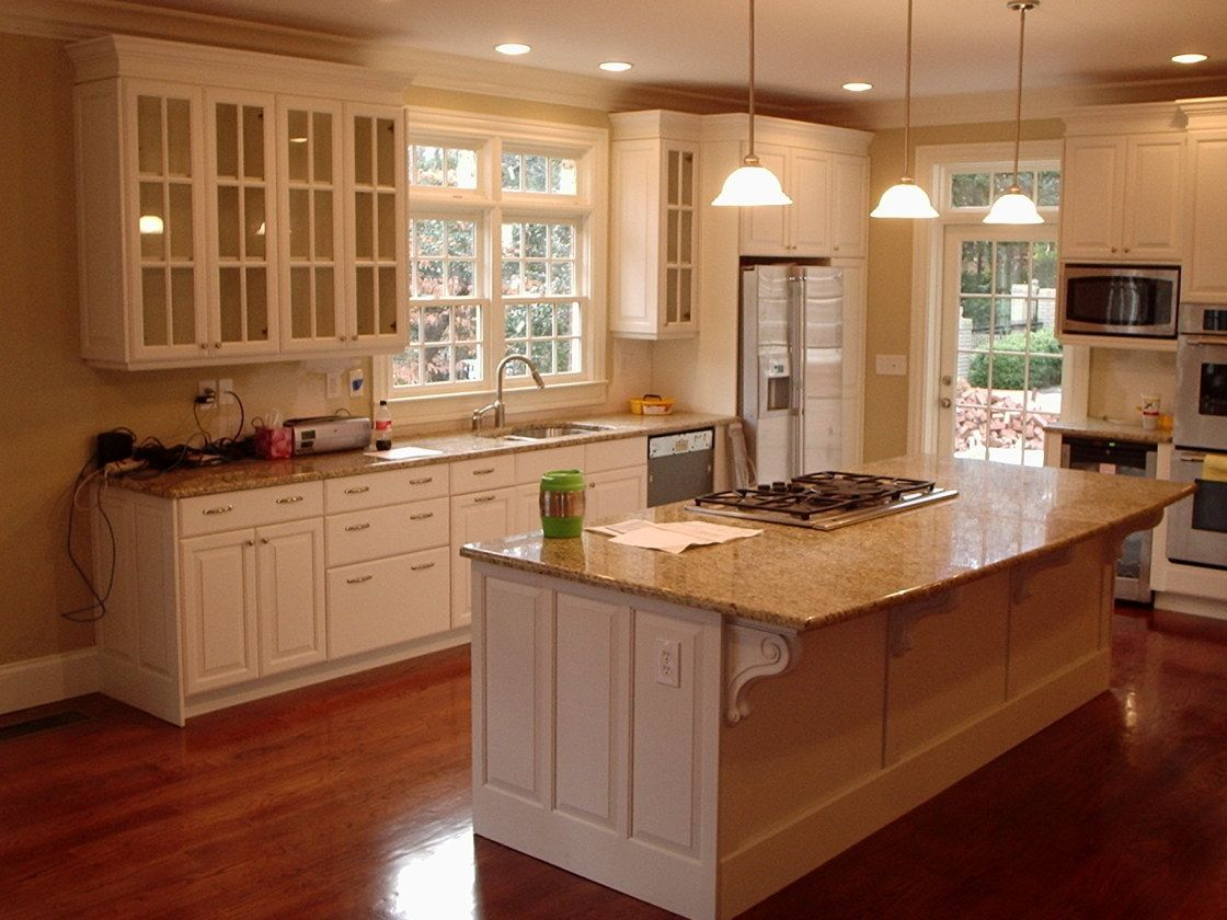 Superior Minimalist Home Kitchen Design Ideas Showing Off White Paint ..Wooden Kitchen  Cabinets And Clear Photo Gallery