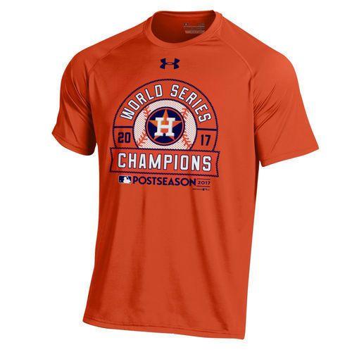 Under Armour Houston Astros Orange 2017 World Series Champions Tech T-Shirt   UnderArmour 3095afe2f