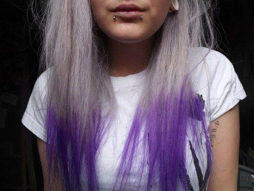 Cool Amazing Purple Blonde Dip Dye Hiar Hair Beauty Pinterest Short Hairstyles For Black Women Fulllsitofus