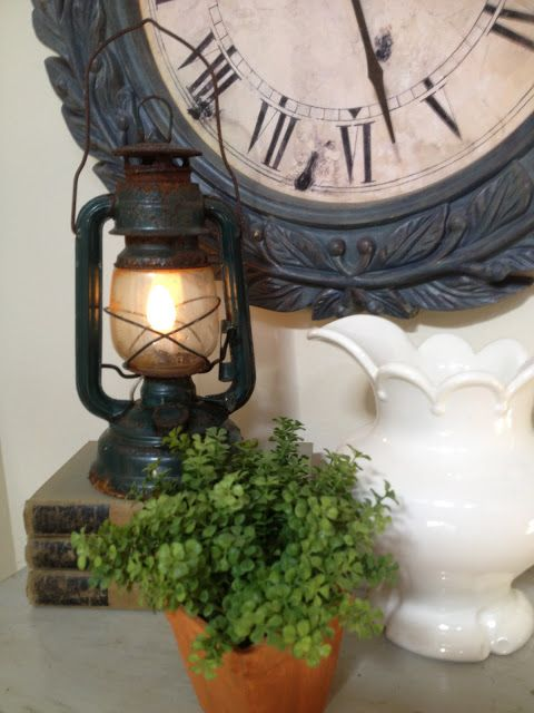 An old lantern and light kit come together to make a simple nightlight - via It's Just Me