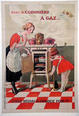 panneaux pub cuisiniere a gas 1920 pub panneau et affiches. Black Bedroom Furniture Sets. Home Design Ideas