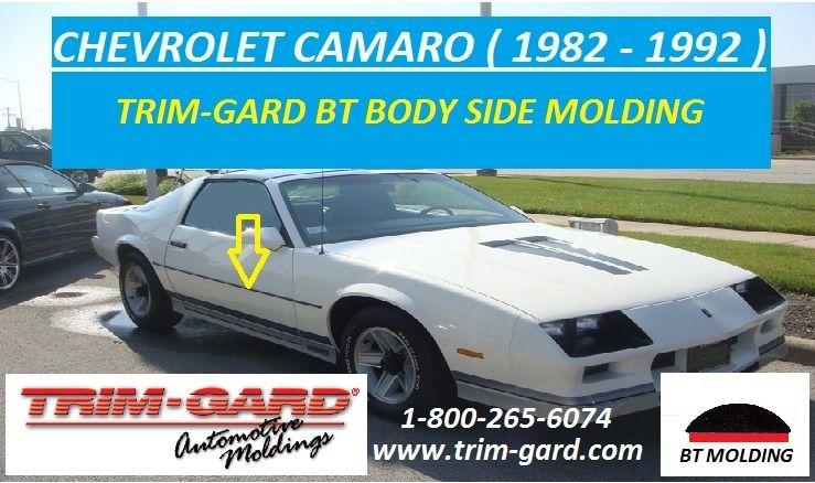 1982 1983 1984 1985 1986 1987 1988 1989 1990 1991 1992 Chevrolet Camaro Body Side Molding Trim Gard Manufactures T Chevrolet Camaro Moldings And Trim Camaro