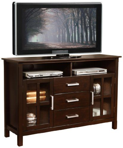 Simpli Home Kitchener Collection 53 Inches Wide X 35 Inches High Tall Tv Stand Http Rustic Touch Com Simpli Home Kitchener Simpli Home Tall Tv Stands Home 35 inch tall tv stand