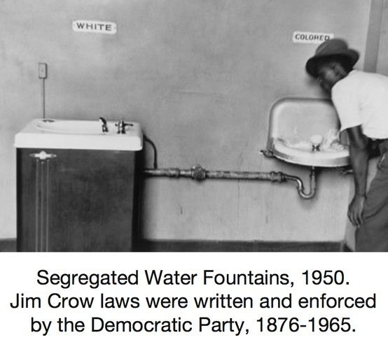 Segregated Water Fountains 1950