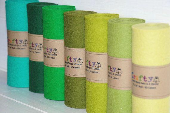 Free Shipping Wool Felt Rolls 100 Wool Felt By Craftywoolfelt Penny Rug Patterns Wool Felt Primitive Fabric