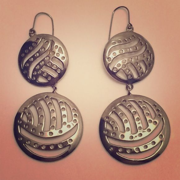 Circle silver earrings Gently used circle silver earrings Accessories