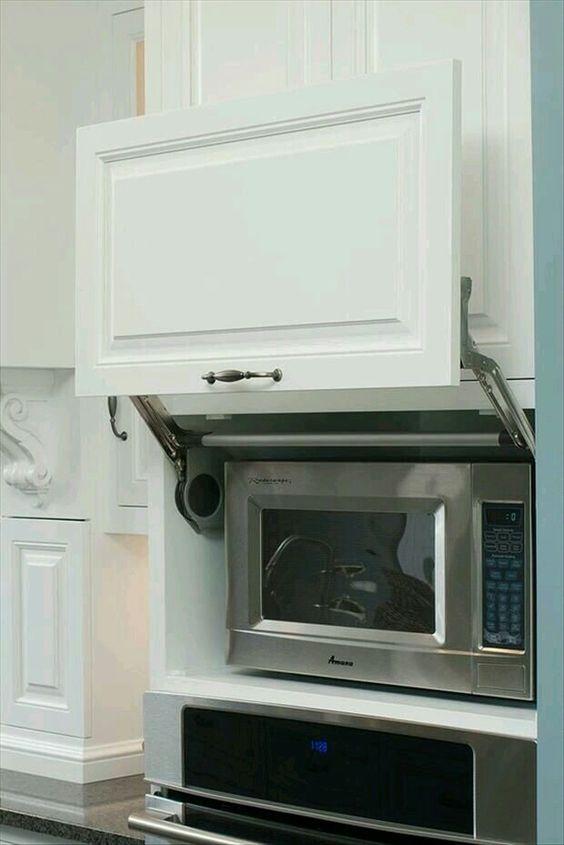 Mira estos 25 muebles de cocina para colocar tu microondas | Casa ...