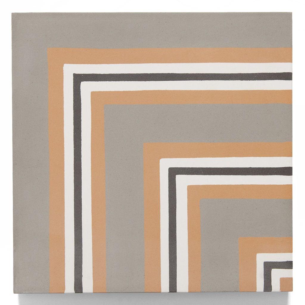 "Corner Accent Wall Tiles Vertical: Promenade Decorative Field Tile Ticking Corner 8"" X 8"""