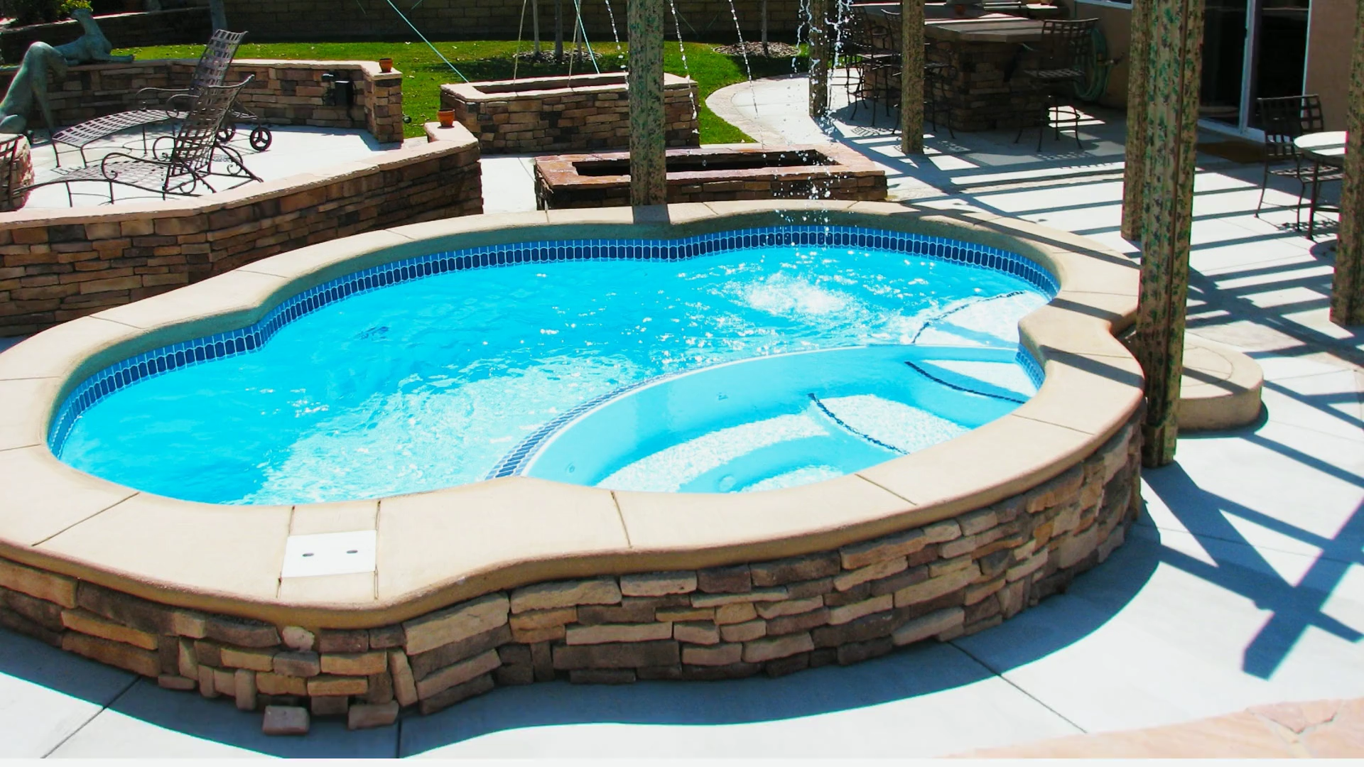 The Crystal Beach San Juan Pools San Juan Pools Swimming Pool Landscaping Best Above Ground Pool