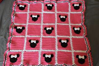 Minnie Mouse Baby Blanket Pattern By Heather Singell Crochet