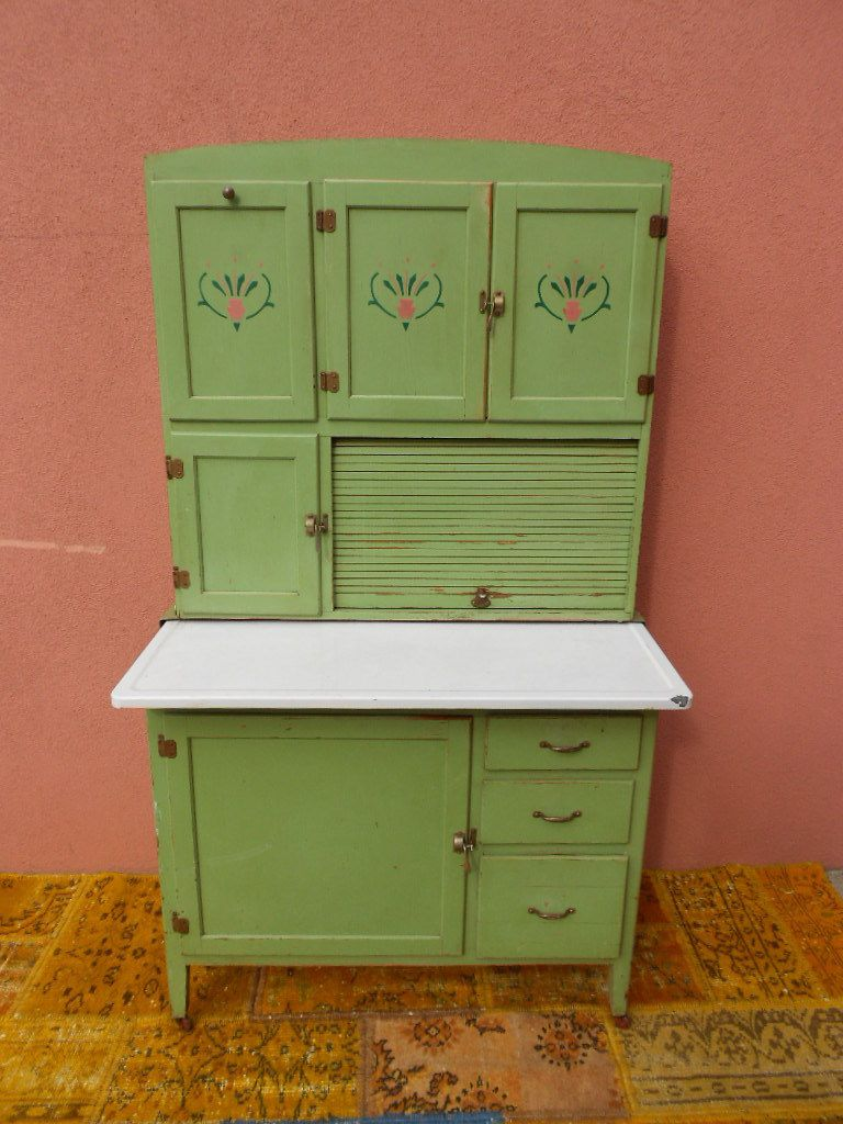 kitchen vintage metal kitchen cabinet enamel painted - Retro Metal Kitchen Cabinets