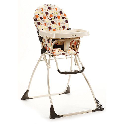 The Cosco Flat Fold Highchair Is A Basic No Frills High Chair That S Easy To Clean And Easy To Fold For Stora With Images Folding High Chair High Chair Kids Folding Chair