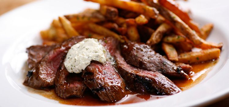 Steak Frites :: grilled creekstone farms bistro tender