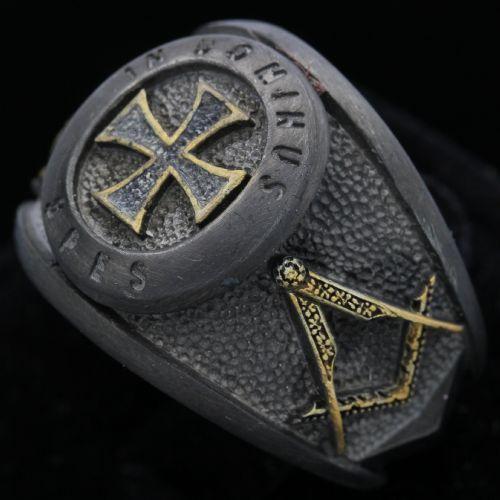 VINTAGE in hoc signo vinces Croix Rouge Chevaliers Du Templier Boucle de ceinture//Masonic