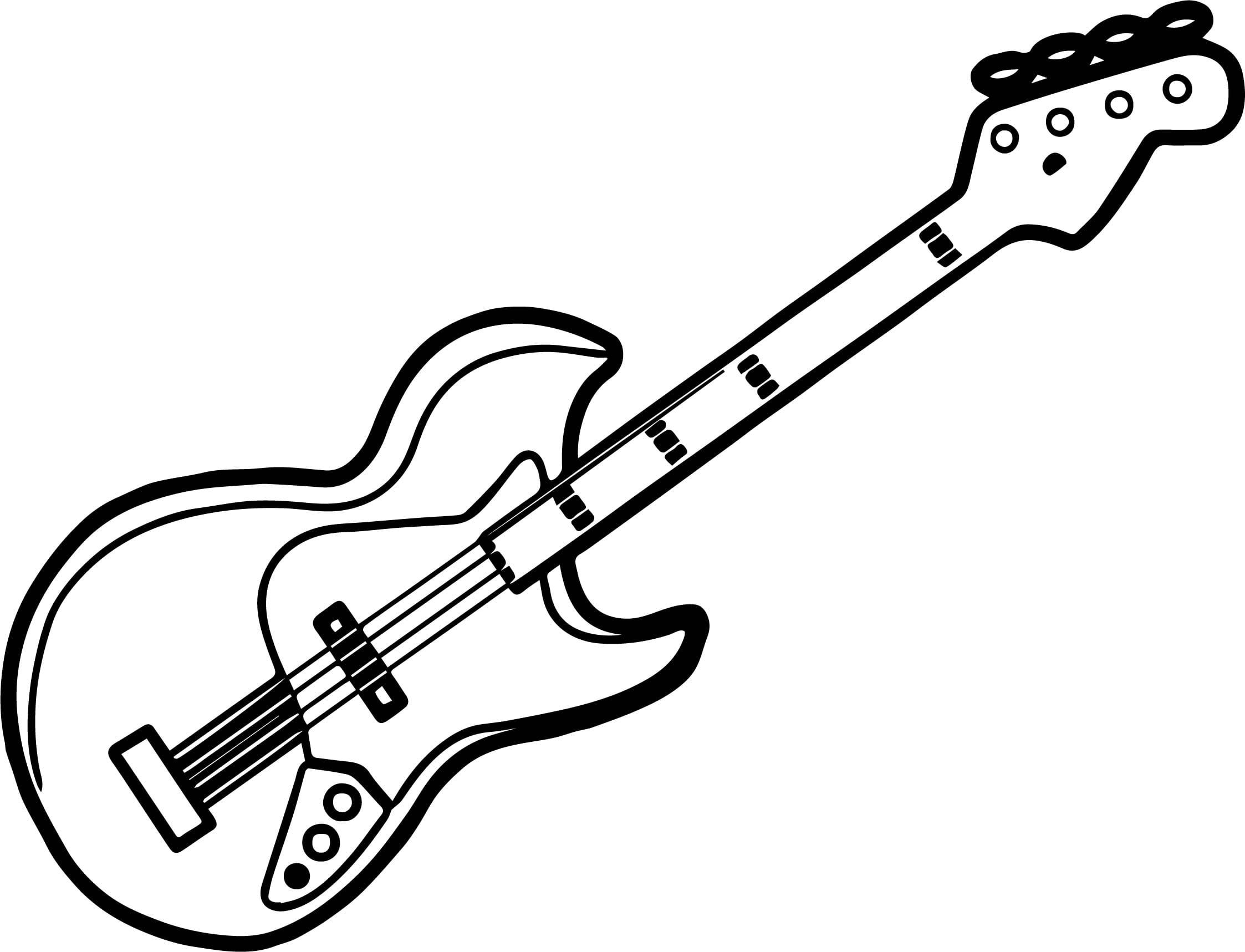 Guitar Coloring Pages - GetColoringPages.com | 1717x2246
