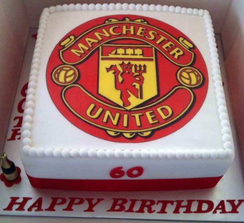 Manchester United Cake Soccer Birthday Cakes Birthday Cakes For Men Sports Themed Cakes