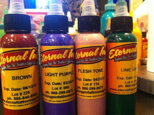 Eternal Ink Is Vegan And Almost All Of The Artists Here Use It