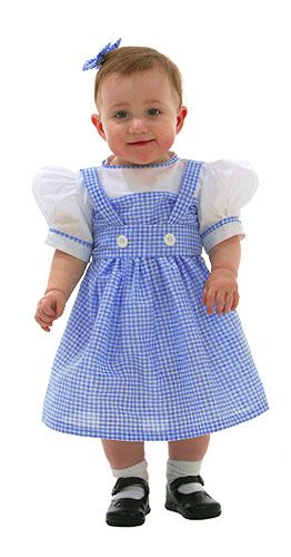 Dorothy Toddler Costumes Blue and White Dress w attached White  ShirtDorothy s attire from the Wizard of Oz has become iconic within our  culture. Now 4c8072f7f9