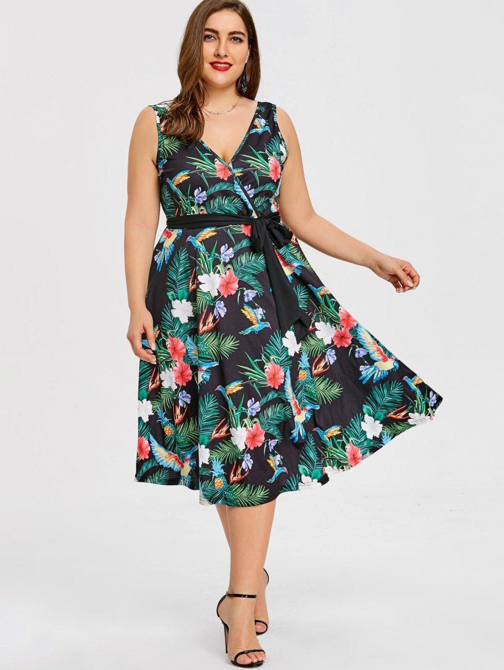 Cheap Hawaiian Dresses Plus Size
