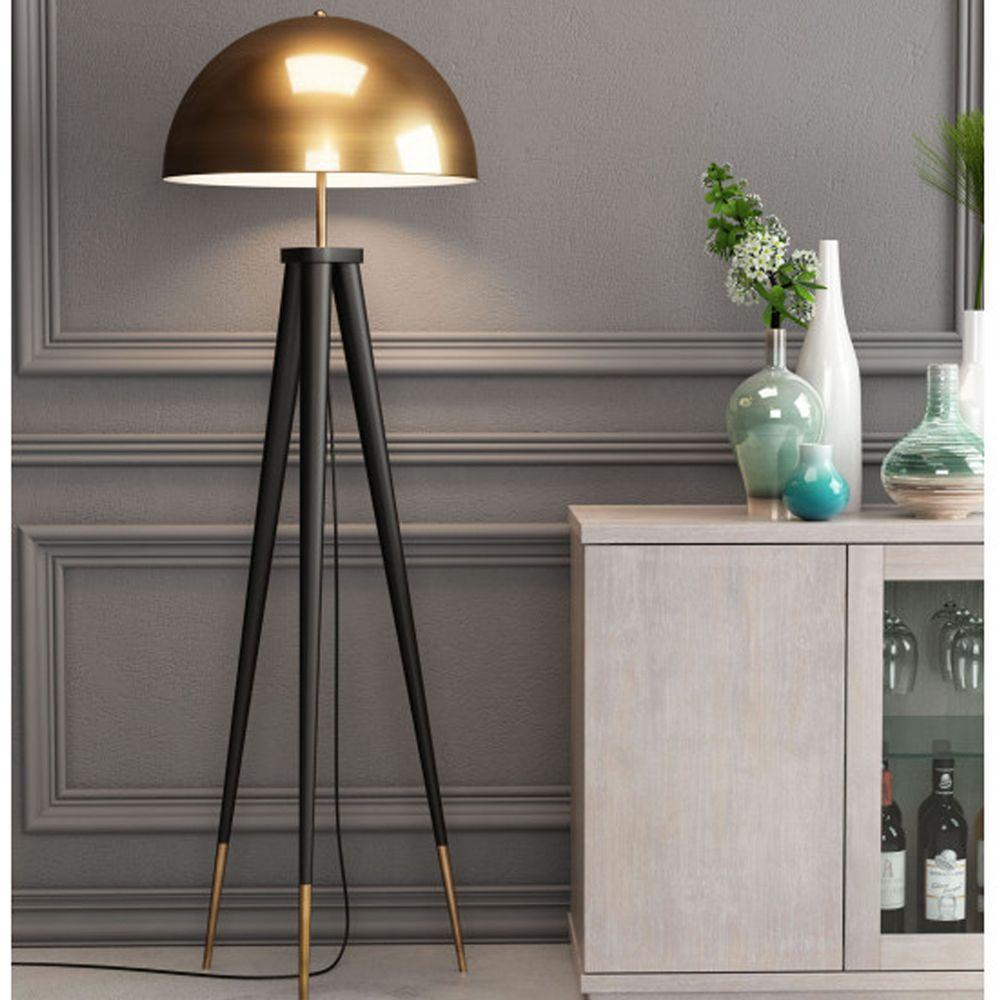 Mascot Floor Lamp (Brass Black floor lamp, Zm home