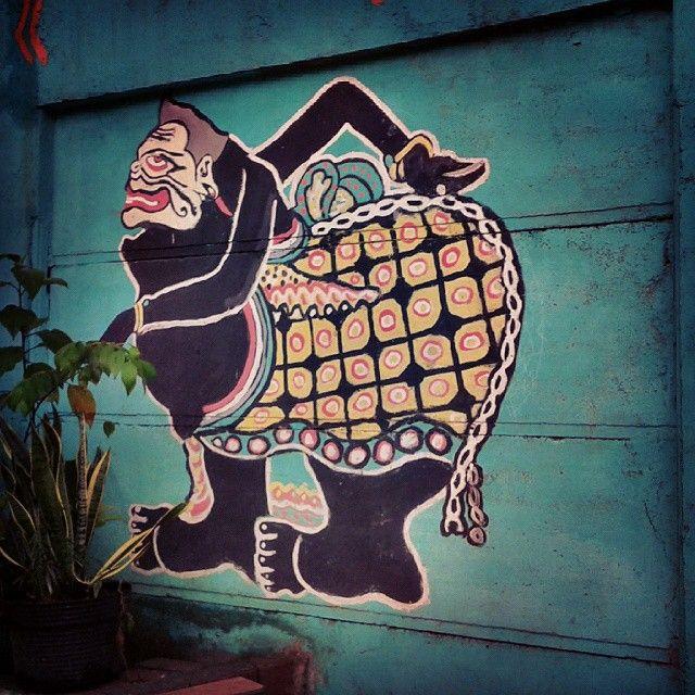 Semar Wayang Shadow Puppets Street Art Graffiti Trips Graffiti Artwork