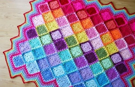 This join-as-you-go crochet pattern makes this Happy Harlequin Crochet Afghan easy AND fun.