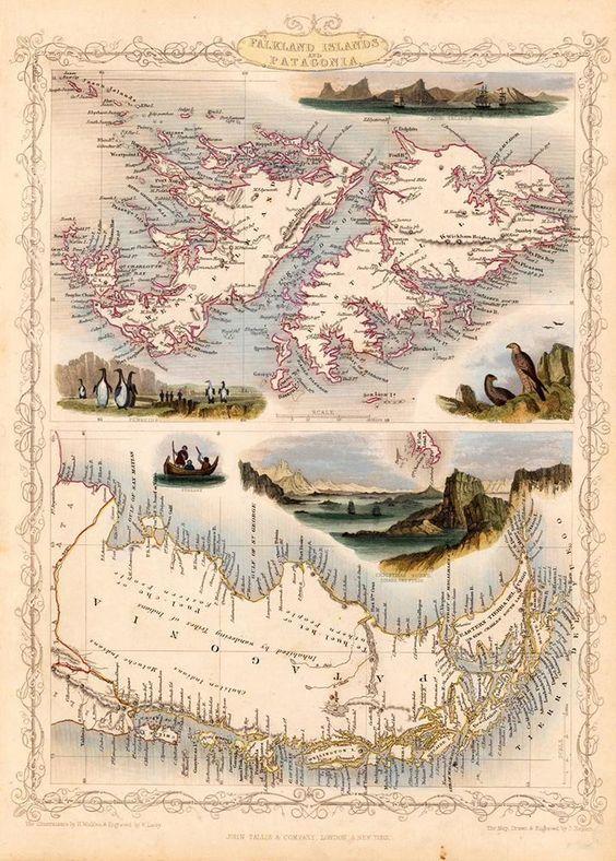 South America Map Falkland Islands