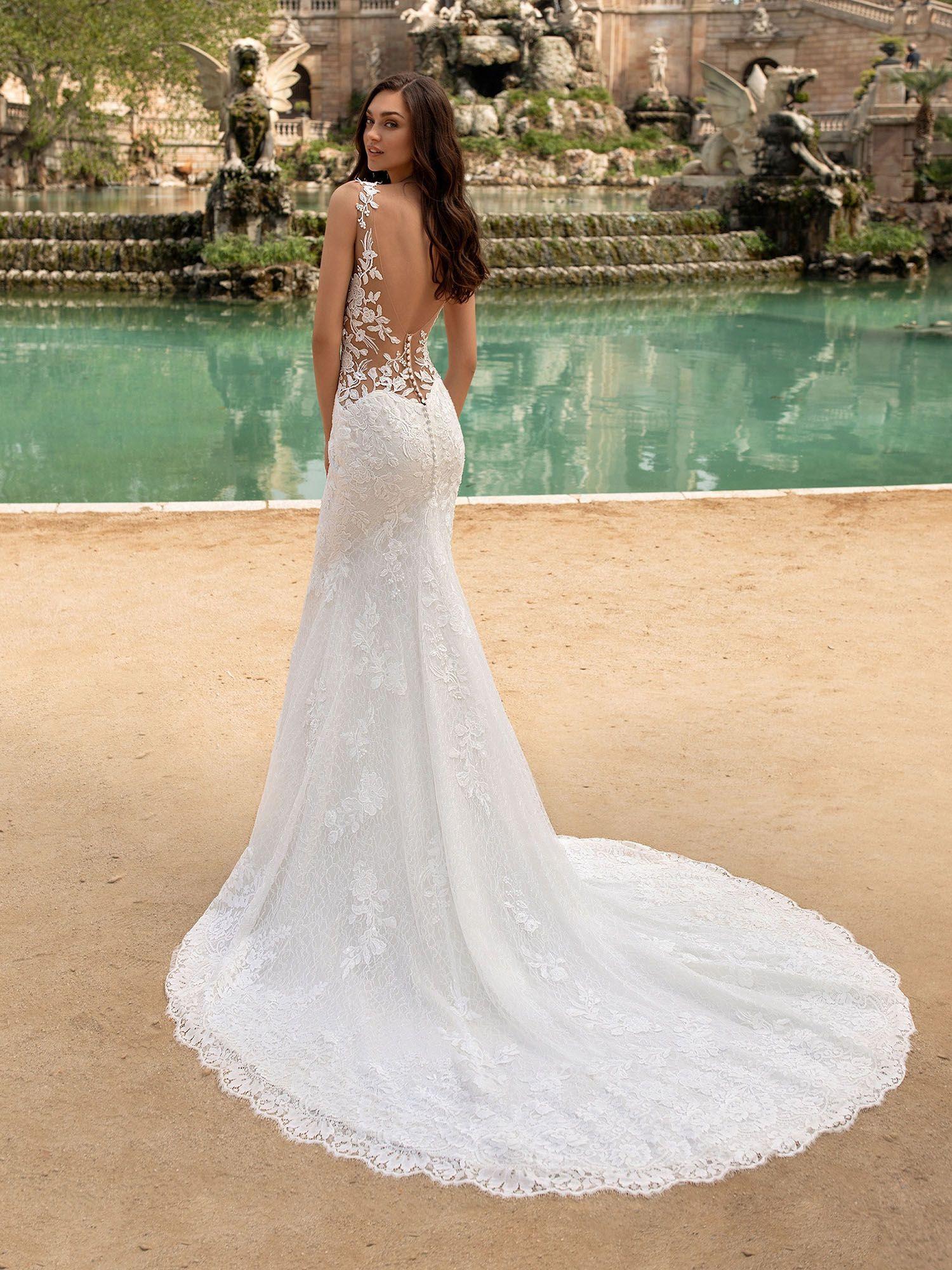Brautkleid im Meerjungfrau-Stil in 19  Meerjungfrauen kleid
