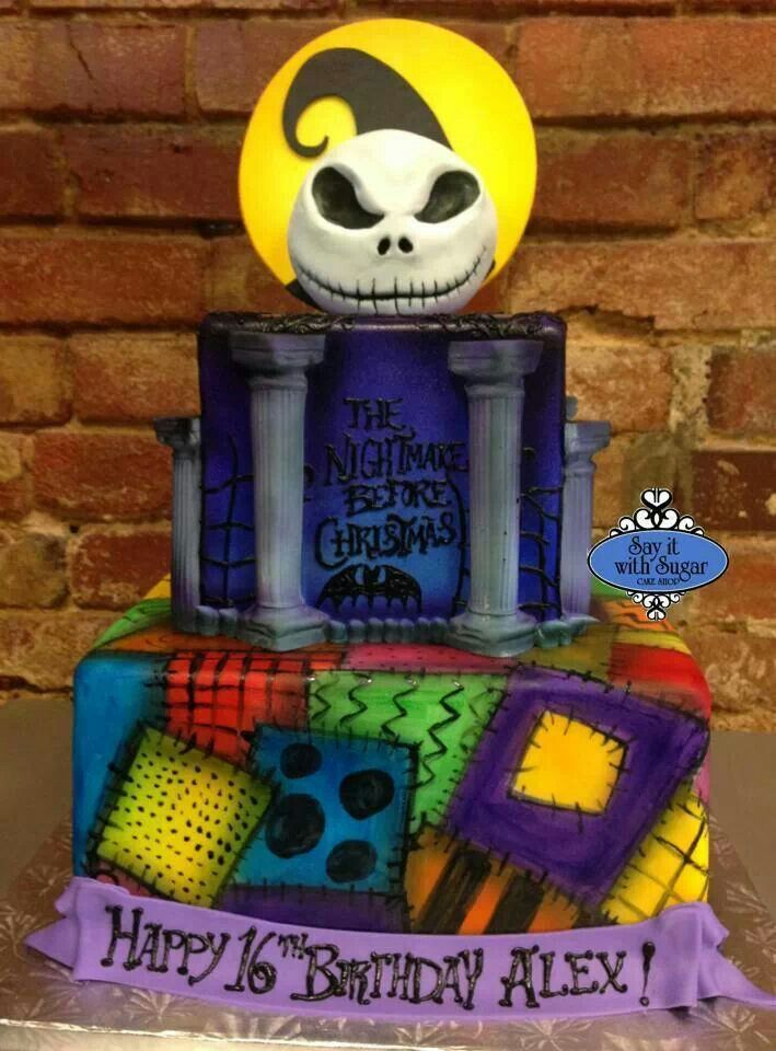 Say it with sugar in Wylie Texas, did this nightmare before christmas cake. I love it!