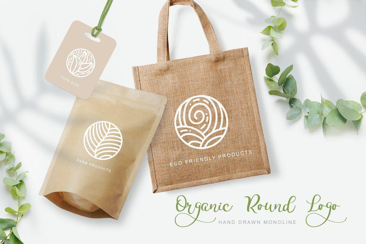 Organic Round Logo Emblem