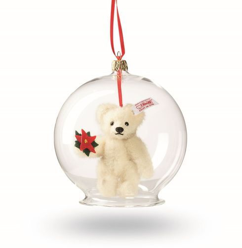 The Steiff Teddy Bear Ornament is a must for any collection. Made with the  brass plated button in ear. - The Steiff Teddy Bear Ornament Is A Must For Any Collection. Made