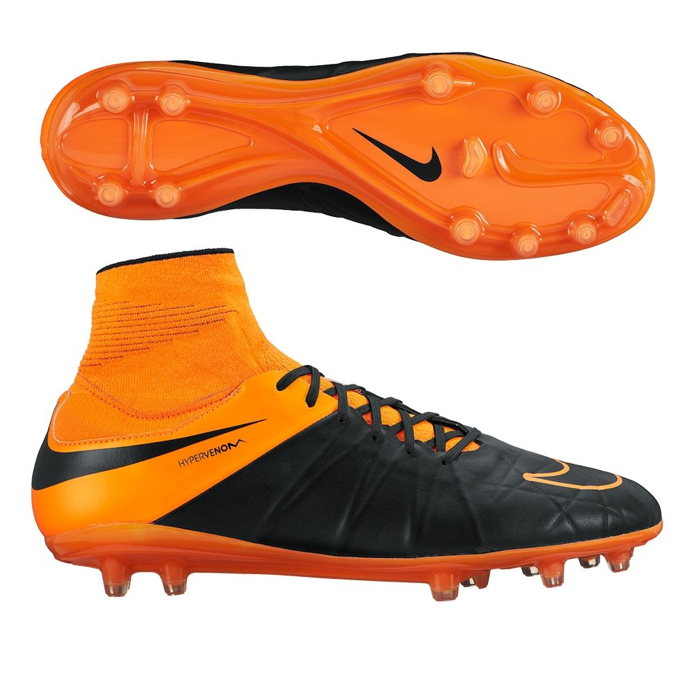 SALE $139.95 - Nike Hypervenom Phatal II DF Tech Craft (Leather) FG Soccer  Cleats (Black/Total Orange) | 747504-008 | Nike Soccer Cleats | Leather ...
