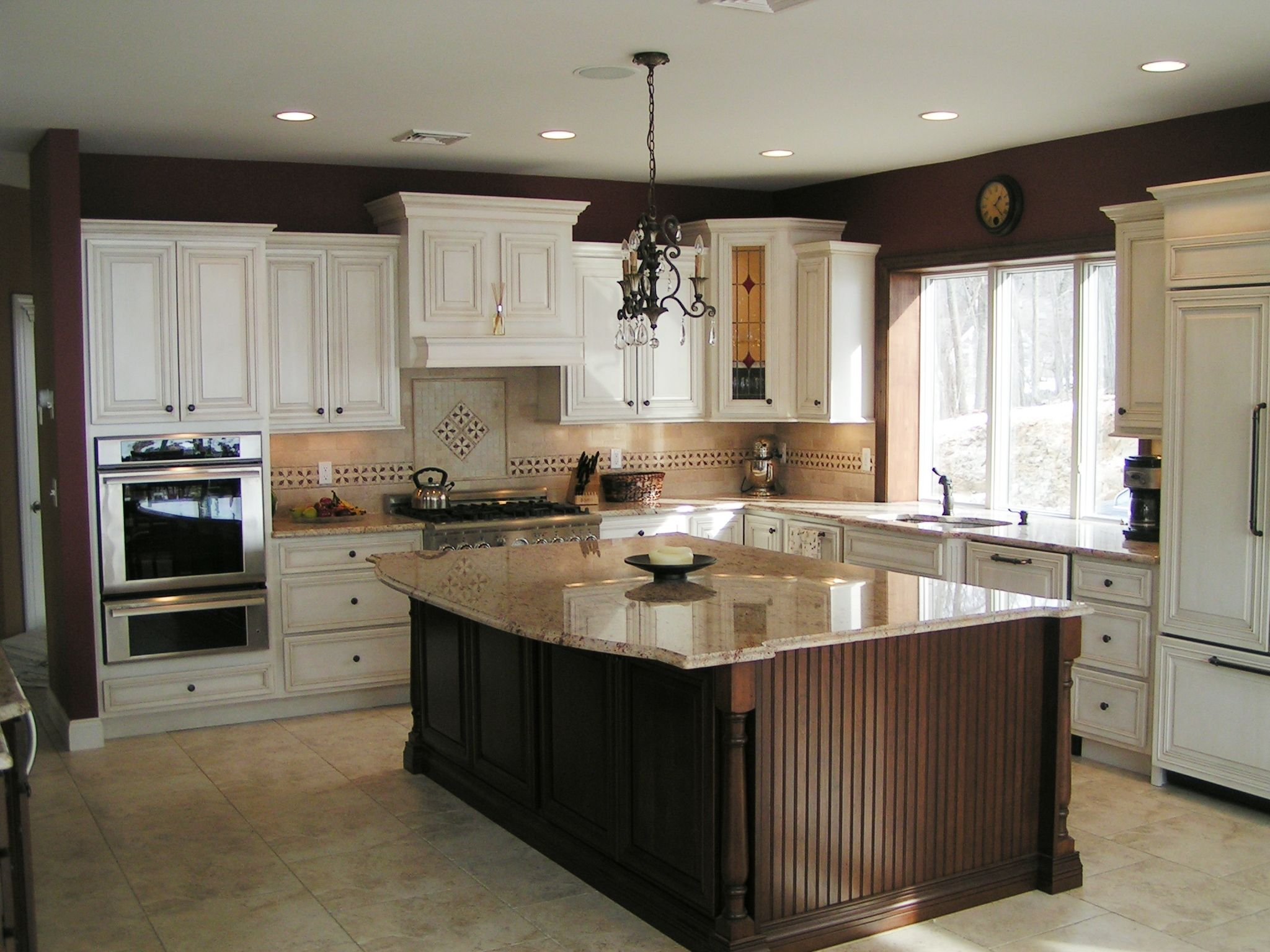 Full kitchen wood species cabinets maple and island for Full kitchen cabinets